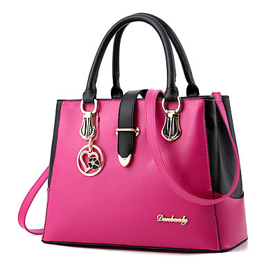 Women's Bags Shoulder Bag / Zipper Ruffles Dark Blue / Fuchsia / Wine