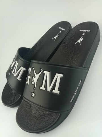 GYM STAR Comfy Slides in Black