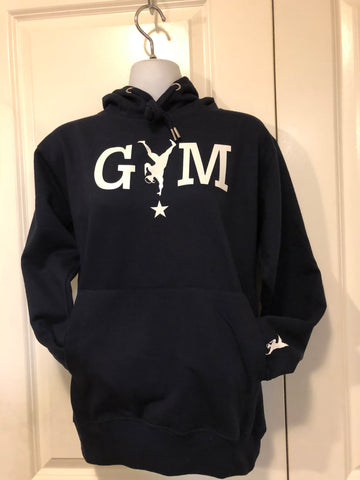 Bronx Bomber - Navy Blue  Hoodie with White Gym Star Logo
