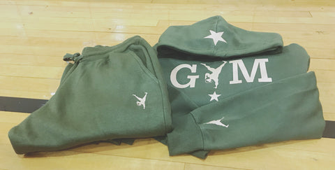 Formation - Army Green Jogger Suit with Tan GYM STAR Logo