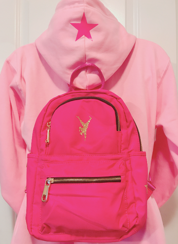 Fight Back Against Breast Cancer! - Pink GYM STAR Mini Backpack