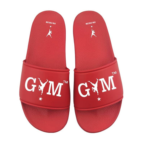 GYM STAR Comfy Slides in Red