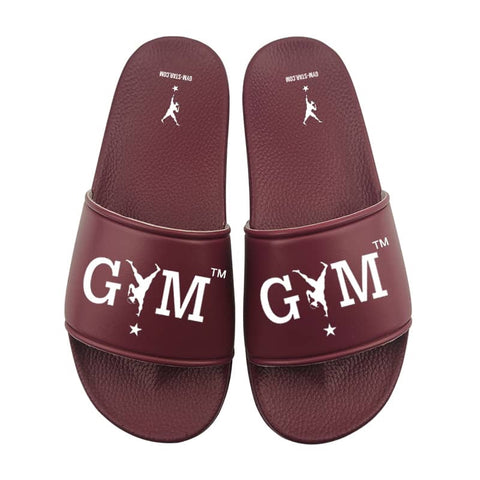 GYM STAR Comfy Slides in Burgundy