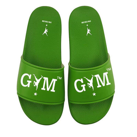 GYM STAR Comfy Slides in Green