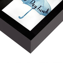 Load image into Gallery viewer, Rainy Day Fund Decorative Shadow Box Frame, Glass Sized 5x7 Inches