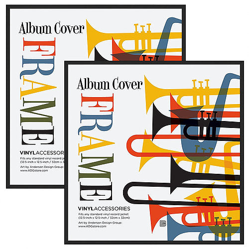 2 Pack - Top Rated Album Frame - Display Album Covers and LP Covers 12.5x12.5