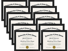 Load image into Gallery viewer, 12 Pack - Document Frames - Made to Display Certificates 8.5x11 - Document Frames, Certificate Frames, Standard Paper Frames