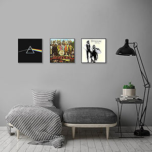 "Top Rated Album Frame - Made to Display Album Covers and LP Covers 12.5""x12.5"" - Hanging Hardware Installed and No Assembly Required - Easy to Use Album Frame, Album Cover Frame"