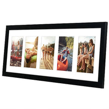 Load image into Gallery viewer, Black Collage Picture Frame with 5 Openings; Made for 4x6 Inch Photos