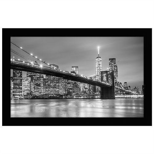 8.5x14 Black Picture Frame - For Legal Sized Paper - Shatter-Resistant Glass Front - Hanging Hardware Included