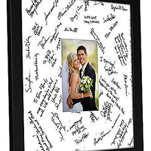 Load image into Gallery viewer, 14x14 Wedding Signature Picture Frame - Display Pictures 5x7 or 14x14 without Mat - Made with Glass