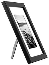 Load image into Gallery viewer, 8x10 Black Picture Frame - Display Pictures 5x7 with Mat or 8x10 without Mat