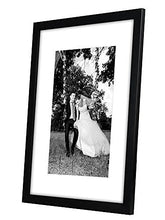 Load image into Gallery viewer, 12x16 Black Picture Frame - Display Pictures 8x12 with Mat - Display Pictures 12x16 without Mat - Glass Front - Hanging Hardware Included