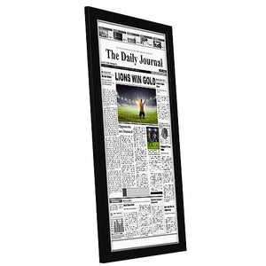 11x22 Frame - Assorted Media Cover Frame - Hanging Hardware Included - Fits 11x22 Inch Newspapers