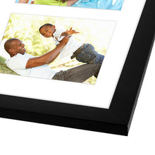Load image into Gallery viewer, Black Collage Picture Frame with 4 Openings - Made for 4x6-inch Photos