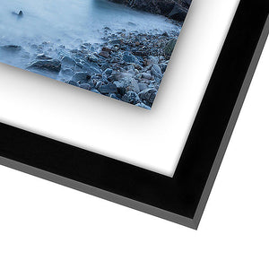 8.5x11 Floating Document Frame - Modern Picture Frame Designed to Display a Floating Photograph, Black
