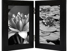 Load image into Gallery viewer, 4x6 Inch Hinged Picture Frame with Glass Front - Made to Display Two 4x6 Inch Pictures