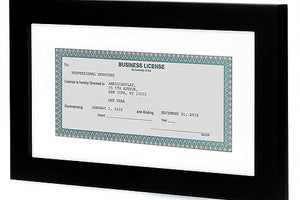 15 Pack - Business License Frames - Made for Business Licenses Sized 3.5x8 Inches with Mat or 5x10 Inches without Mat - Made for Standard Business Licenses, Real Estate Licenses