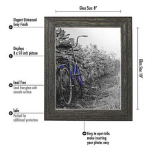 Load image into Gallery viewer, 2 Pack - 8x10 Barnwood Rustic Picture Frames with Easels - Made for Wall and Tabletop Display