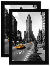 Load image into Gallery viewer, 2 Pack - 11x17 Inch Black Picture Frame