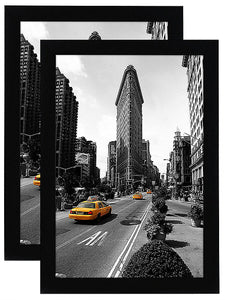 2 Pack - 11x17 Inch Black Picture Frame