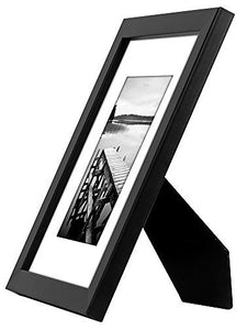 8x10 Black Picture Frame - Display Pictures 5x7 with Mat or 8x10 without Mat