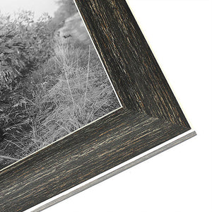 2 Pack - 5x7 Barnwood Rustic Picture Frames - Built-In Easels - Wall Display - Tabletop Display