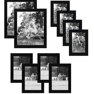 a8d464fe4a0 10-Piece Multi Pack Black Frames  Two 8x10 Frames