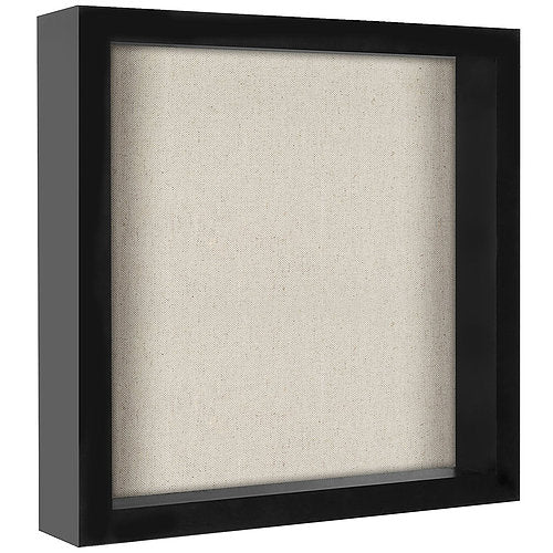 11x11 Shadow Box Frame - Soft Linen Back - Perfect to Display Memorabilia, Pins, Awards, Medals, Tickets, Photos
