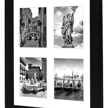 Load image into Gallery viewer, 10x10 Collage Picture Frame - Displays Four 4x4 Inch Portrait Pictures with Mat