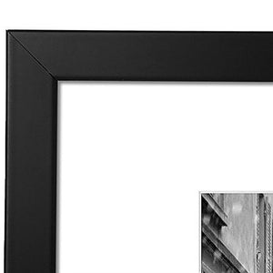 11x13 Black Picture Frame - Display Pictures 8x10 with Mat - Display Pictures 11x13 Inches without Mat