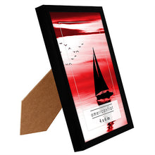 Load image into Gallery viewer, 12 Pack - 4x6 Black Picture Frames with Glass Fronts
