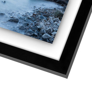 11x14 Inch Floating Frame - Modern Picture Frame Designed to Display a Floating Photograph, Black