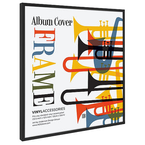 "24 Pack - Top Rated Album Frames - Display Album Covers 12.5""x12.5"" - Hanging Hardware Installed - Easy to Use Album Frames, Album Cover Frames"