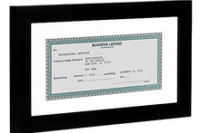 Load image into Gallery viewer, Business License Frame - Made for Business Licenses Sized 3.5x8 Inches with Mat