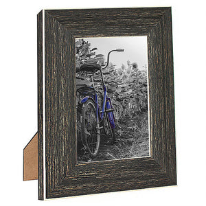 2 Pack - 4x6 Barnwood Rustic Picture Frames - Built-In Easels - Wall Display - Tabletop Display