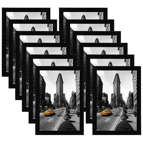 12 Pack - 11x17 Picture Frames - Made for Legal Sized Paper; Wall Mounting Material Included