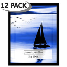 Load image into Gallery viewer, 12 Pack - 8x10 Black Frames with Glass Fronts