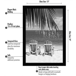 13x19 Black Poster Frame - Shatter-Resistant Glass - Hanging Hardware Included