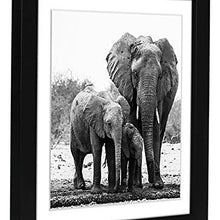 Load image into Gallery viewer, 11x11 Black Picture Frame - Display Pictures 8x8 with Mat - Display Pictures 11x11 without Mat - Hanging Hardware Included