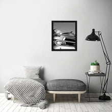 "Load image into Gallery viewer, 6 Pack - 18x24 Black Poster Frames - 1.5"" Wide - Smooth Black Finish - Vertical Hanging Hardware Included - Horizontal Hanging Hardware Included"