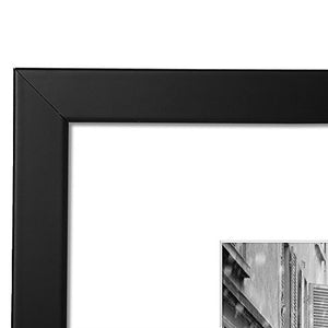 2 Pack - 11x14 Black Picture Frames - Made to Display Pictures 8x10 with Mats or 11x14 without Mats - Wide Moldings