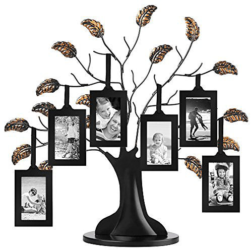 Bronze Family Tree Frame with 6 Hanging Picture Frames Each Sized 2