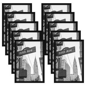 10 Pack - 13x19 Black Poster Frames - Display Vertically on a Wall - Display Horizontally on a Wall - Plexiglass Front