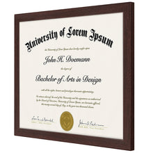Load image into Gallery viewer, Mahogany Document Frame - Made to Display Certificates 8.5x11, Classic Style, Mahogany Brown - Document Frames, Certificate Frames, Diploma Frames