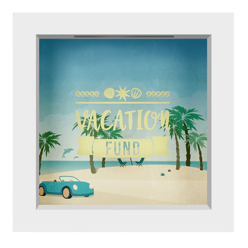 6x6 Inch Vacation Fund Shadow Box Frame