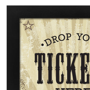"7x9 Inch ""Drop Your Tickets Here"" Shadow Box Frame, Black"