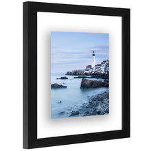 Load image into Gallery viewer, 8x10 Floating Frame - Modern Picture Frame Designed to Display a Floating Photograph, Black