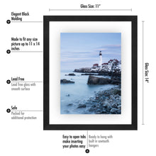 Load image into Gallery viewer, 5 Pack - 11x14 Floating Frames - Modern Pictures Frame Designed to Display Floating Photographs, Black