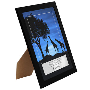 12 Pack - 8x10 Picture Frames - Display Pictures 8x10 Inches - Easel Backs - Built-in Hangers - Plexiglass Fronts
